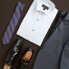 A gray tux is a versatile option that you will wear for years to come. Gray Tux, Grey, Tuxedos, Loafers, How To Wear, Shoes, Fashion, Grey Tuxedo, Gray