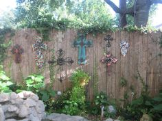 Cross Wall outside. Love it! with a goldfish pond i think so!
