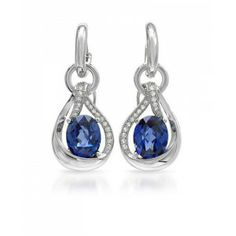 10.34 CTW Tanzanite Sterling Silver Earrings - December Birthstone – Tanzanite - Special Events