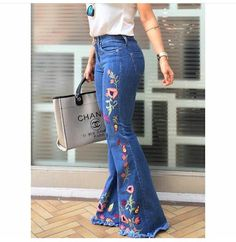 Closet Lit: Jeans Flare Bordada! #closetlit