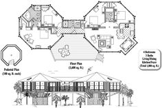 Online House Plan: 4 Bedrooms, 3 Baths, 1800 sq. ft., Classic Collection [CM-0304]