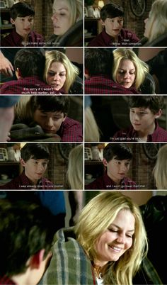 """I was already down to one mother, and I won't go lower than that. "" Henry and Emma - 4 * 2 ""White Out"" AWWW Henry ❤️❤️"
