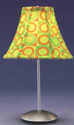 A groovy table lamp, the Guacamole pattern Retro table lamp.