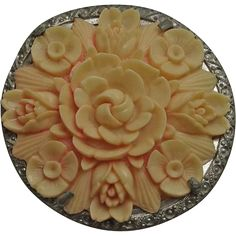 Large Vintage Celluloid Flower Pin.Jewelry under $25 at Ruby Lane www.rubylane.com @rubylanecom