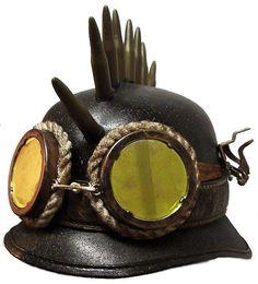 Steampunk+Army+Biker+Helmet                                                                                                                                                     More