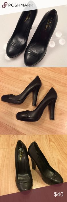 """Cole Haan 4"""" Pumps (6 1/2) Excellent condition Cole Haan closed toed black pumps. Heel approx 4"""". Cute detail across toe section. Only worn a few times! Perfect closed toed pumps for fall & winter events & parties! Cole Haan Shoes Heels"""