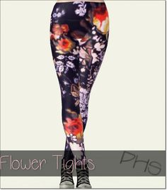 Flower tights by Jassi - Sims 3 Downloads CC Caboodle