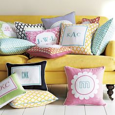 Monogrammed pillows make GREAT gifts! #Sleep accessories