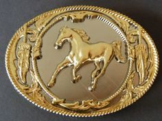 HORSE PONY MERE RODEO EQUESTRIAN WESTERN BELT BUCKLE BOUCLE CEINTURE CHEVAL