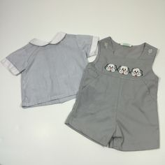 A personal favorite from my Etsy shop https://www.etsy.com/listing/479289799/vintage-boys-puppy-outfit-size-24-months