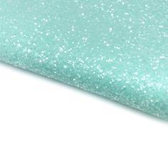Mint Sugar Lux Premium Chunky Glitter Fabric Mini Rolls, Glitter Fabric, Hair Bows, Craft Supplies, Mint, Colours, A4, Core, Fabrics