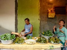 Whole Meals Wrapped in Banana Leaves – Lawar Stand - Ubud, Bali