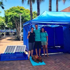 Our little dream team. This is our solar powered pop-up relaxation haven in the heart of Coffs Harbour yesterday morning. A little sensory sanctuary where listeners could put on a set of headphones and be transported out of the city and into a world of deep relaxation. The binaural beats embedded within our music help entrain the brain into the desired state on demand - making it quick and effective. Its so great to have our little vision come true and thanks Coffs for having us. One thing…