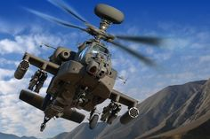 Boeing AH-64E «Apache» Block III attack helicopter.