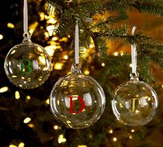 Love these monogrammable glass globe ornaments $6 http://rstyle.me/n/uwtdhnyg6