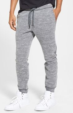 DIESEL® 'Pascale' Mélange Fleece Knit Jogger Pants available at #Nordstrom