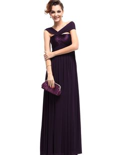 Ever Pretty Women's Fabulous Pleat Empire Long Formal Party Evening Dress 09464 -- Don't get left behind, see this great  product : Trendy plus size clothing