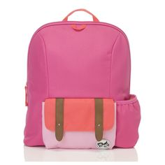 Babymel dětský batoh Pink Colour Block ZIP a ZOE 3+ Colour Block, Color Blocking, Pink Color, Backpacks, Bags, Fashion, Handbags, Moda, La Mode