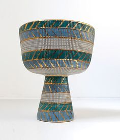 "Raymor ""Greek Summer"" Ceramic Chalice"