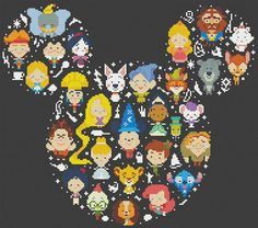BUY 2 get 1 FREEDisney Mickey Cross Stitch by ElCrossStitch