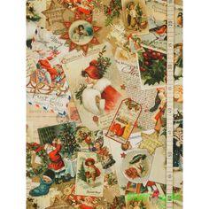 blau-rot-grün Dekostoff 140cm süsses Gebäck Weihnachten