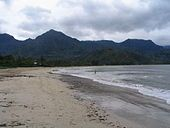 The beach at Hanalei Bay