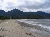 The beach at Hanalei Bay