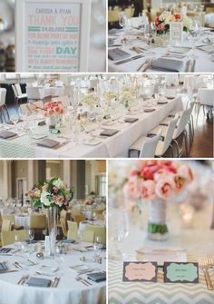 """This is a little too """"white"""" for me. More coral more mint. Chevron table runner might be a bit too much. Dark wood chairs should liven it up a little!"""