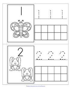 Little Number Book for SPRING 0-10 Montessori Education, Kids Education, Number Recognition, Spring Theme, Kindergarten Math, Booklet, Counting, Worksheets, Letters