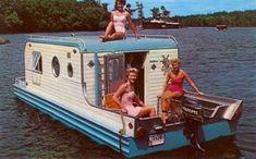 AMAZING little houseboat