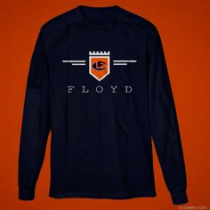 Leonard Floyd© Official Logo Long Sleeve Tee These Cotton tees are available in both youth and adult unisex sizes in orange or navy. Leonard Floyd, Chicago Bears, Cotton Tee, Long Sleeve Tees, Youth, Unisex, Orange, Navy, Logos