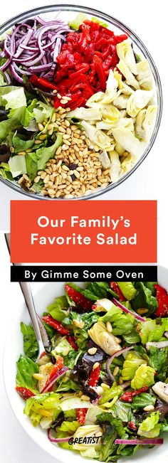 4. Our Family's Favorite Salad #healthy #salads http://greatist.com/eat/summer-salad-recipes-youll-actually-want-to-eat