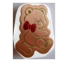 80's satin bear sticker..
