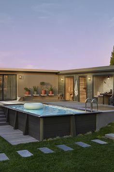Backyard Pool Designs, Small Backyard Pools, Swimming Pools Backyard, Swimming Pool Designs, Pool Decks, Ideas De Piscina, Kleiner Pool Design, Above Ground Pool Landscaping, Cool Pools