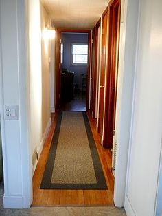 diy hallway runner with carpet squares