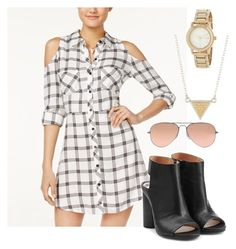 """""""Summer/Spring/Fall Look"""" by queenkrishidesai on Polyvore featuring Material Girl, Maison Margiela, Ray-Ban, DKNY and Anna Beck"""