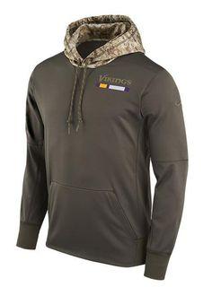 Nike Vikings Salute To Service Hooded Sweatshirt  b5ad53487