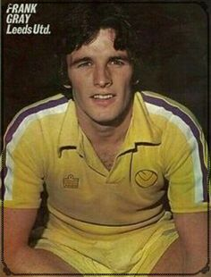 Frank Gray of Leeds Utd in 1976.