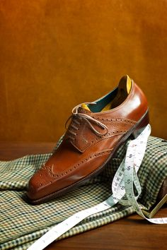 The Wing Tip Derby in Russian and Calf  Spigola by Koji Suzuki.