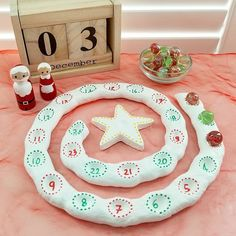 I have wanted an advent spiral for a while now but always g Advent spiral . I have wanted an advent spiral for a while now but always g Pre Christmas, Merry Christmas To You, Christmas Projects, Xmas, Holiday, Diy Crafts To Do, Crafts For Kids, Diy Air Dry Clay, Yule