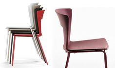 Sedia stella sedia impilabile con struttura in acciaio e