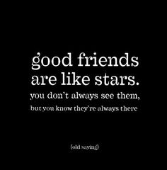 M175Good Friends Are Like Stars Posters cute friendship quotes and sayings