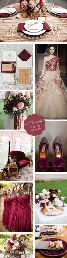 Marsala é uma cor que permite muito! Sofisticação e romance para sua decoração de casamento.