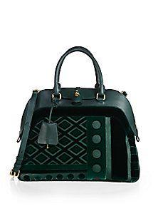 Burberry Prorsum - Milverton Leather & Velvet Satchel