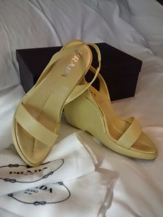 Check out this item in my Etsy shop https://www.etsy.com/listing/509384669/prada-vintage-buttercup-leather-sandals