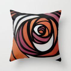 Rose Throw Pillow by Luke Brabants - $20.00