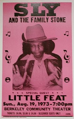 1973 Sly & The Family Stone Concert Poster