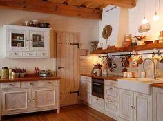Výsledek obrázku pro kuchyně s trámy