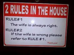 Two Rules In the House
