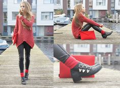 I like this style, especially the bright coloured top (Add pop of colour) for Fall/Winter fashion!  Ready to go (by Rachella K.) http://lookbook.nu/look/4302593-Ready-to-go